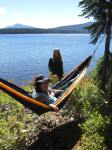 laura bieber,april obern, waldo lake,kayaking oregon,camping oregon