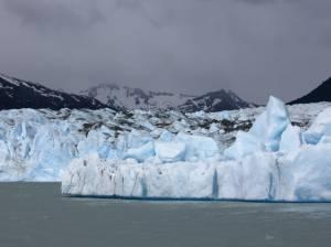 A berg near the glacier's terminus