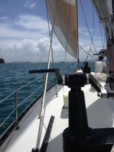 Sails set, we head out