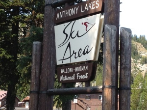 Anthony Lakes Sign