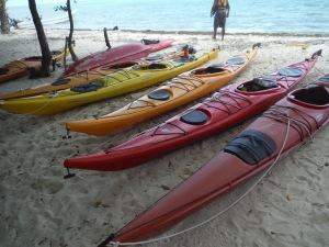 Kayaks in the Island Expeditions fleet