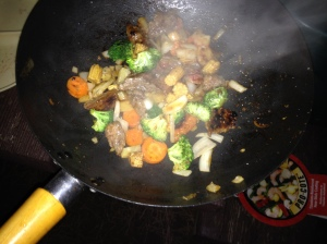wok cooking,camp cooking