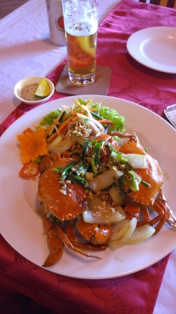 Two crab lunch. Scrumptious!