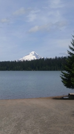 Mount Hood from the Gone Creek Campround put in