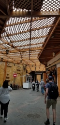"""The Old Medina has been updated with new wood on """"roof"""" and doors"""