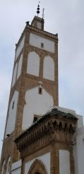 Minarets in Morocco are square-sided like this one.